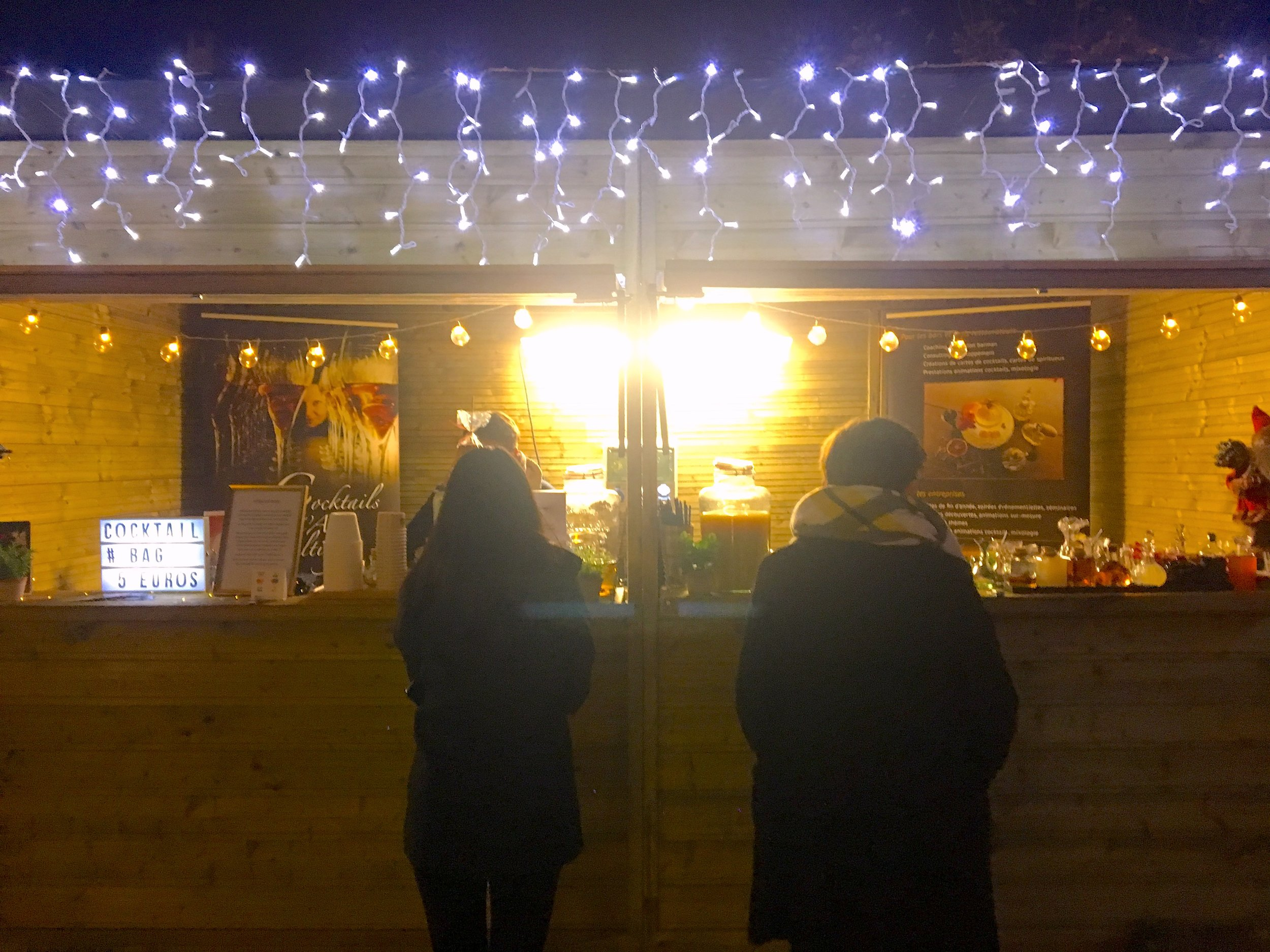 A booth at the local Christmas market
