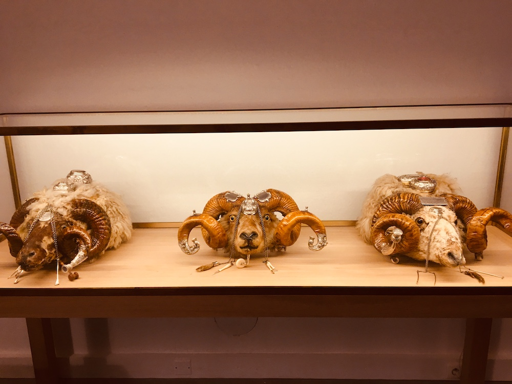 A verging on unhealthy obsession with rams' heads was part of the charm of Château Mouton Rothschild