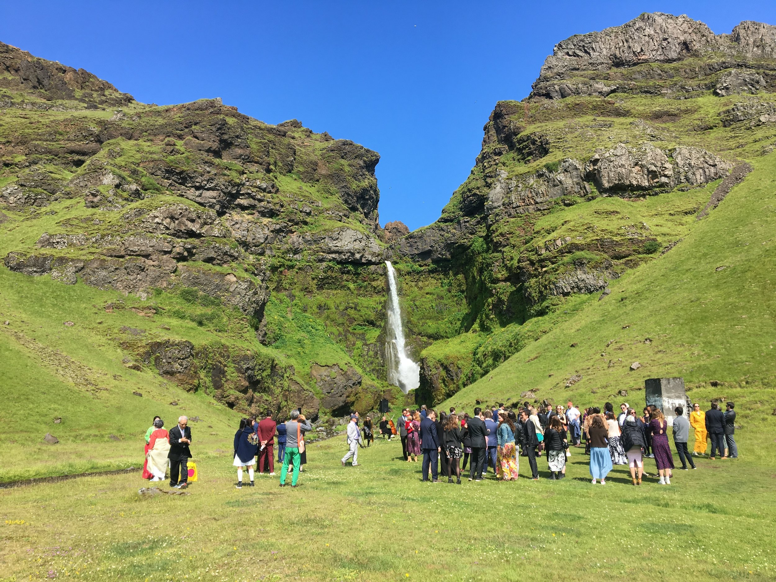 The waterfall in Iceland where my brother and his wife were married