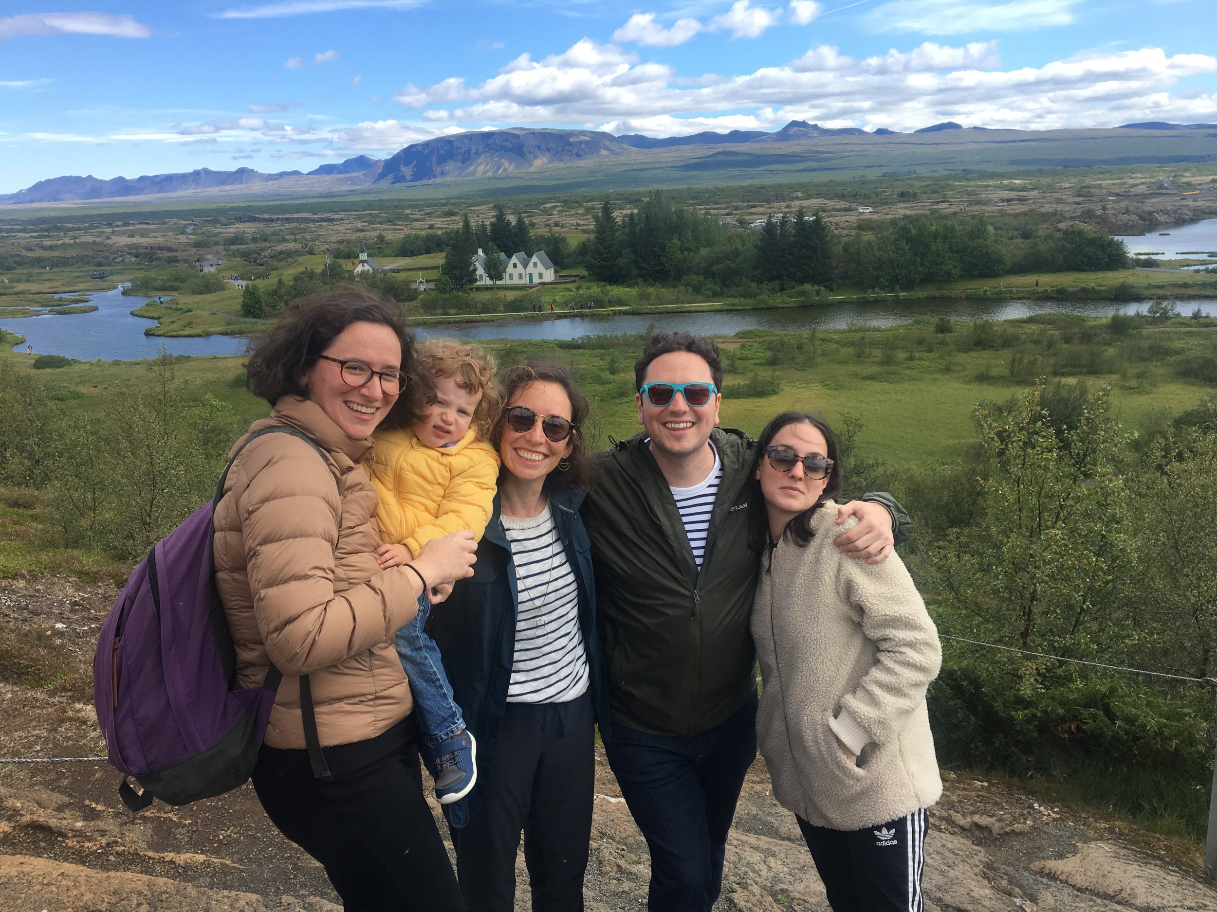 Family & friends in Iceland