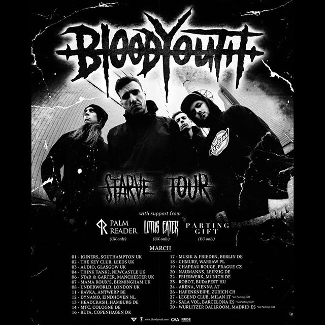 We are joining Blood Youth on their European tour dates from March 11th-26th. Tickets are available now.