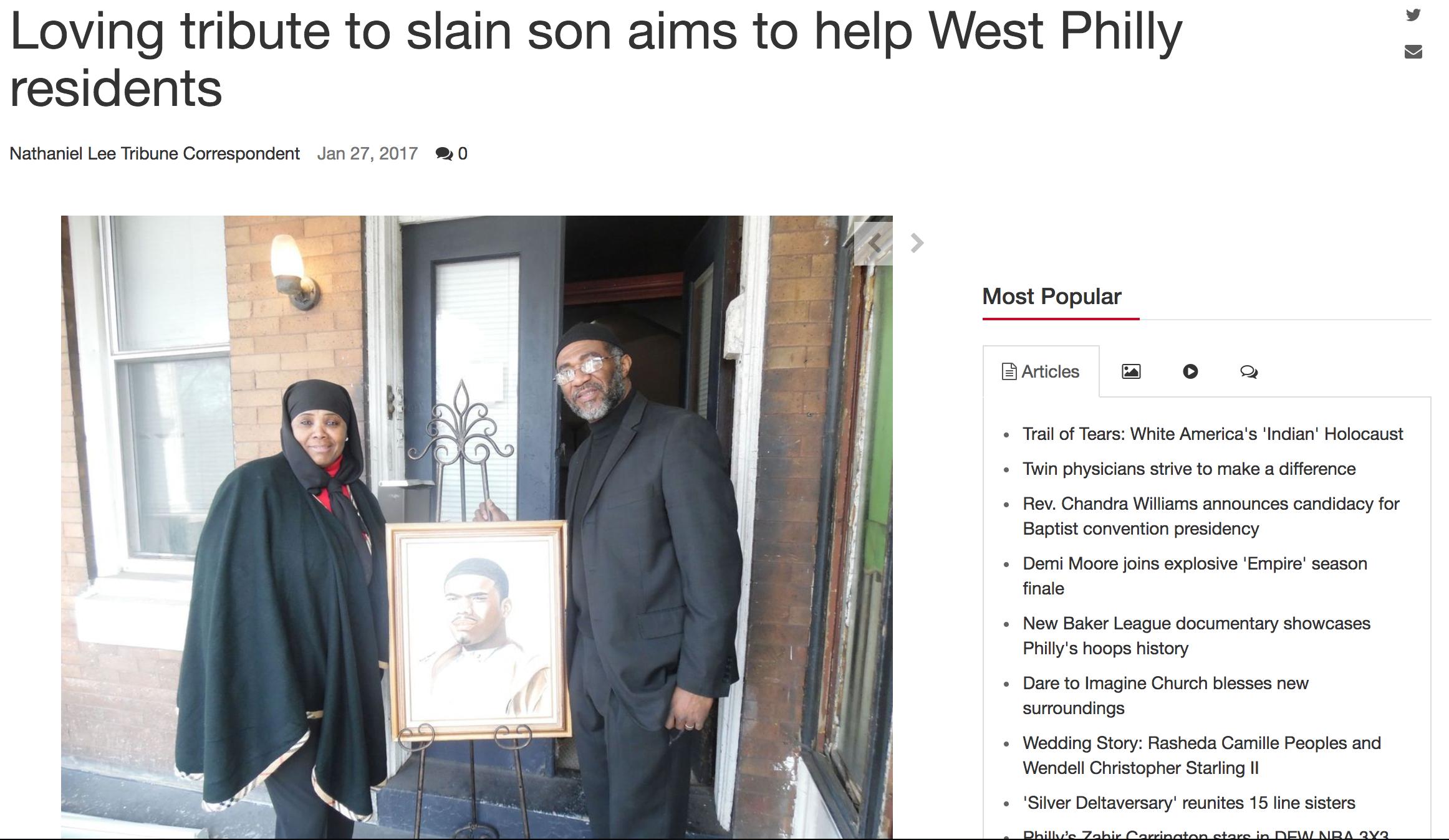 The Philadelphia Tribune - Read full article here