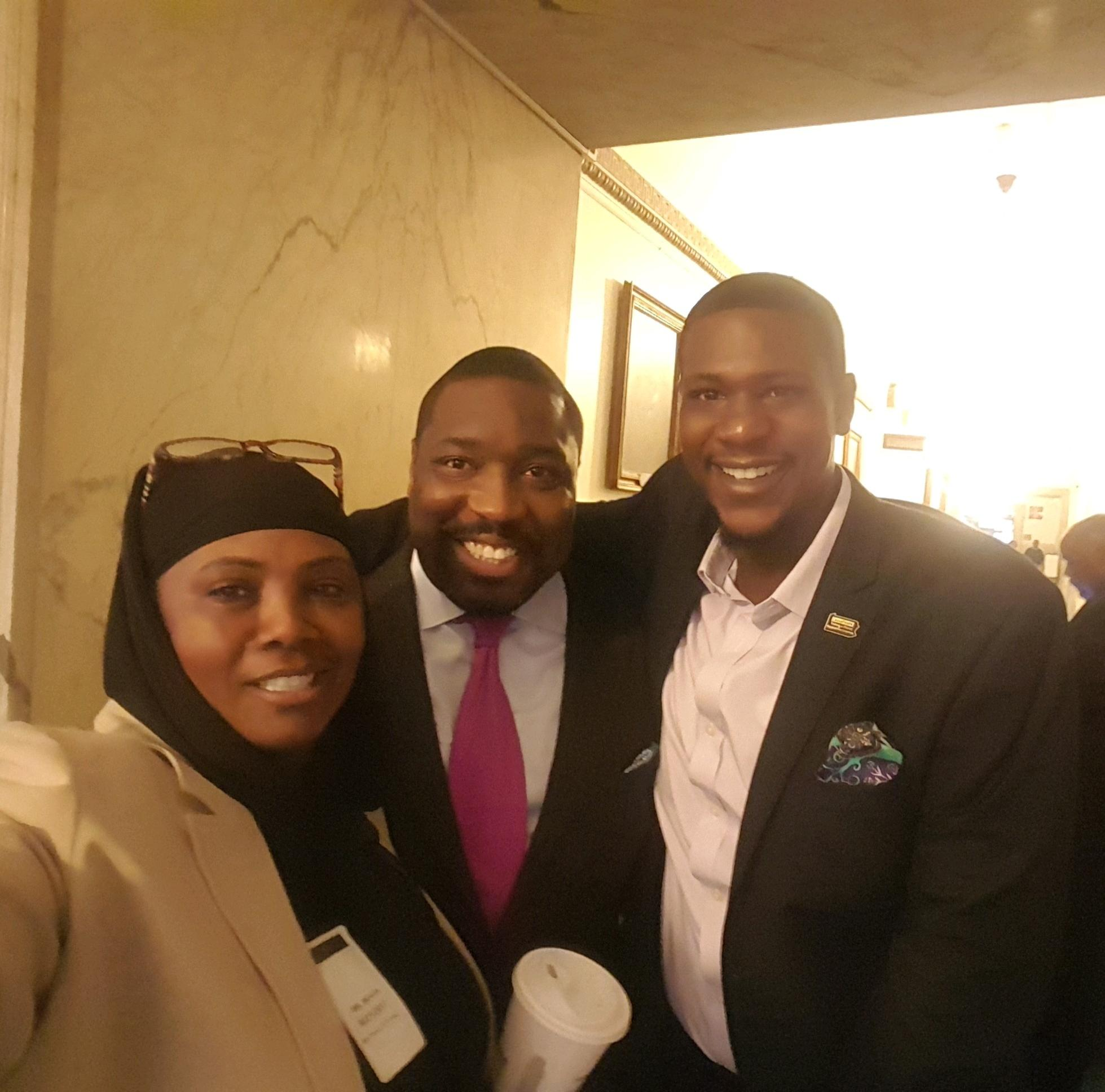 The CHARLES Foundation with Councilman Kenyatta Johnson and Michael Cogbill of CeaseFire PA