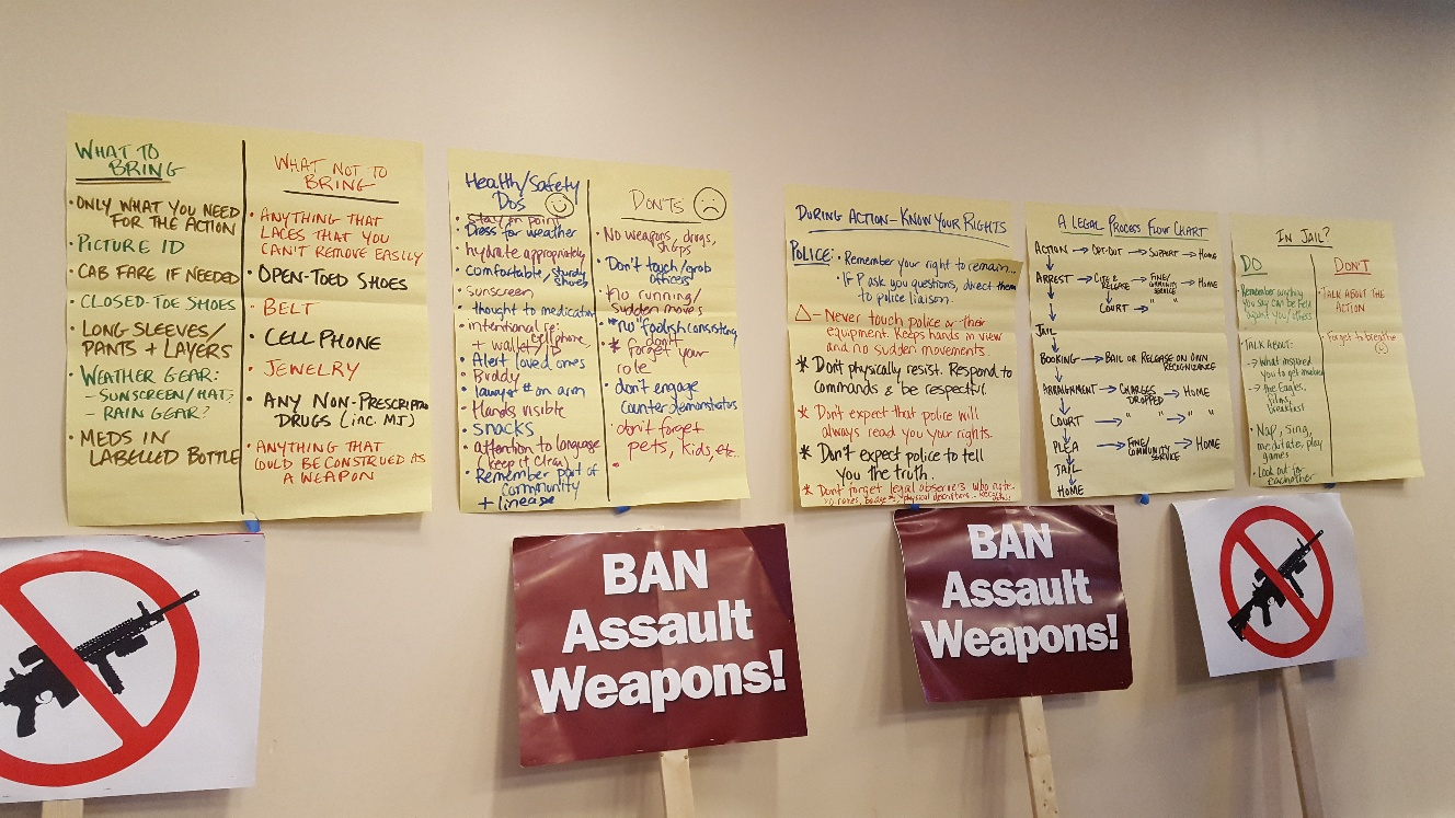 Demand the Ban planning session with The CHARLES Foundation, Delco United for Sensible Gun Policy and Heeding Gods Call to End Gun Violence
