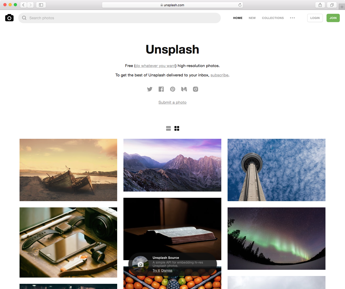 Unsplash - Unsplash is a platform powered by 210,000+ free (do whatever you want) high-resolution photos, gifted by the world's most generous community of photographers.AE cohort member Roberta Scalabrin Reis is a software developer for Unsplash who is fueled by curiosity and challenges.How can we help? Spread the word about Unsplash in the community and provide product feedback, more specifically on the search feature. www.unsplash.com