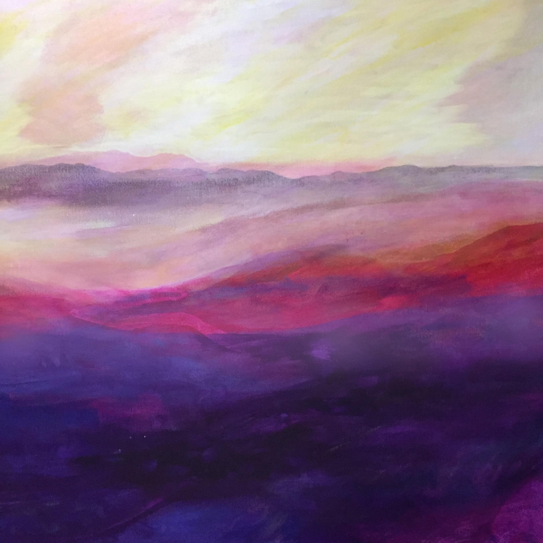 "Peter Adriel.100 Mile Range. 2018. Acrylic on canvas. 36"" x 36"""