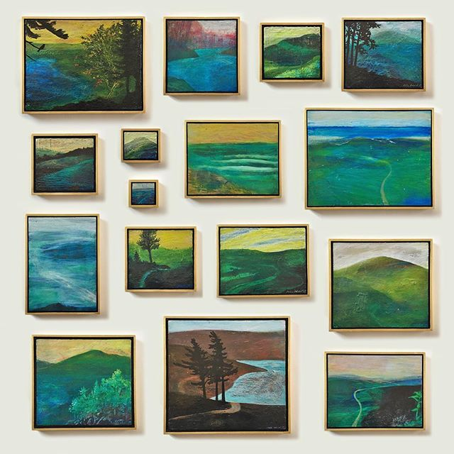 New landscapes at peteradriel.com! Iridescent elements shine through transparent glazes, making 3-dimensional surfaces that change with lighting and perspective