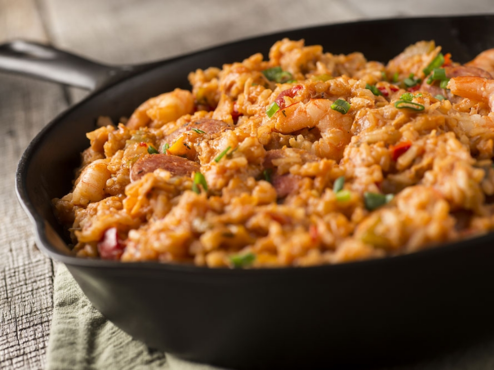 Easy Delicious Gluten-free Skillet Meals cookbook recipe Jammin' Jambalaya