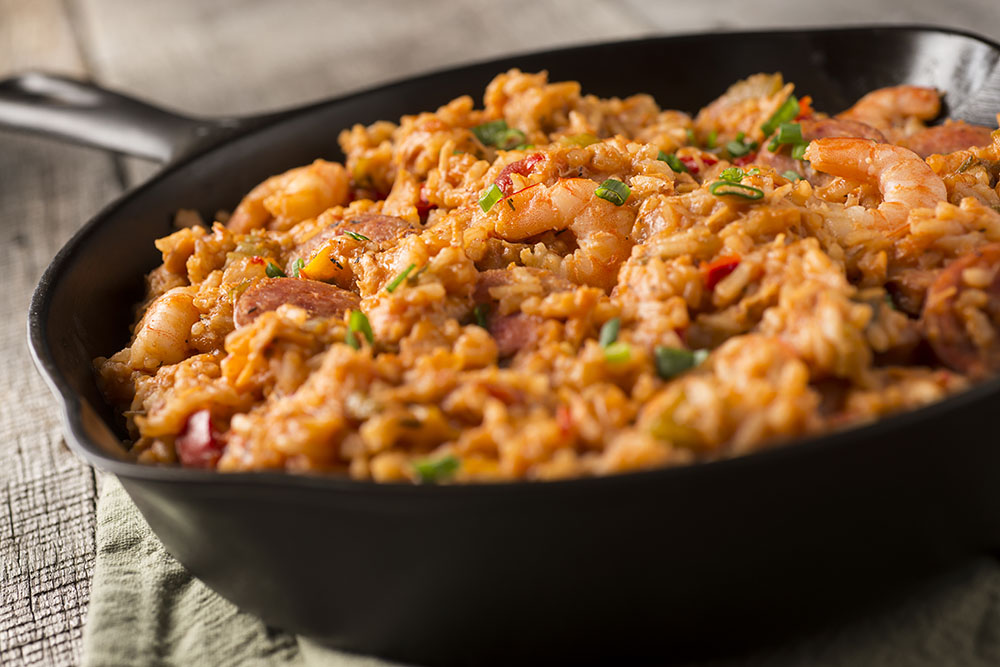 Easy Delicious Gluten-free Skillet Meals Cookbook cover recipe Jammin' Jambalaya