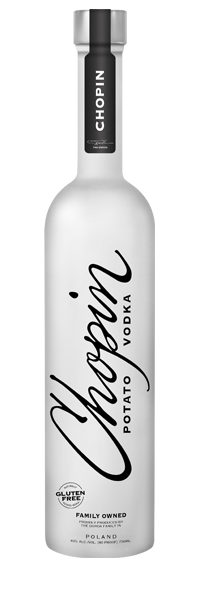 Chopin Vodka - is made from potatoes and is gluten-free