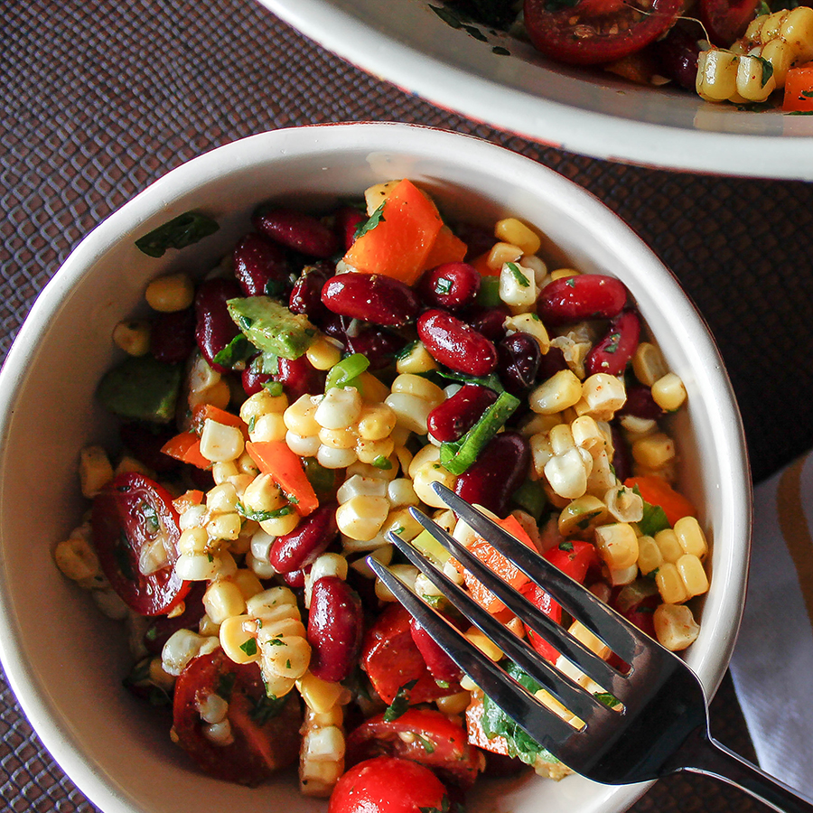Chipotle Corn and Bean Salad - Easy Gluten-Free Cooking  Photo by  Marco Verch  (modified)  Creative Commons license 2.0