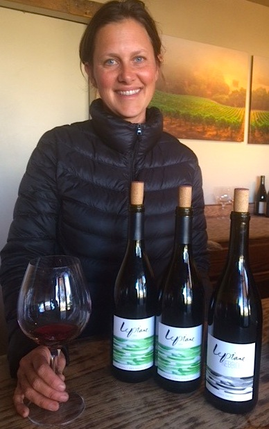 Alison Thomson with her wines at JCR Winery in the Lompoc Wine Ghetto.