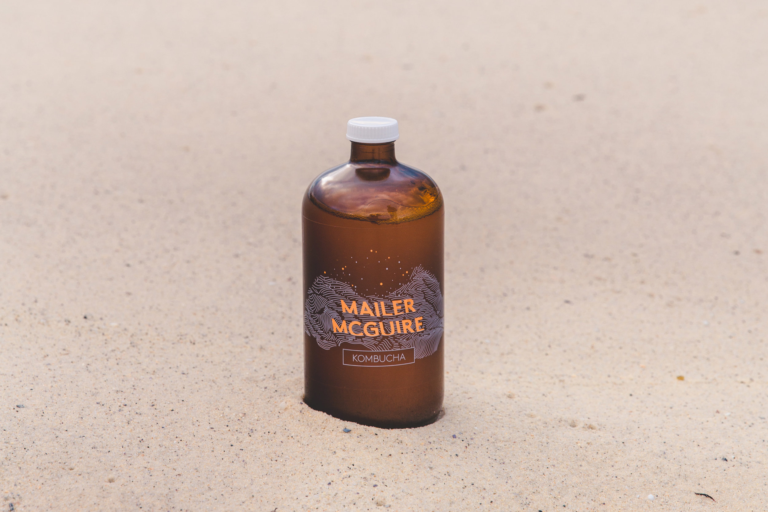 At Mailer McGuire our Kombucha is produced locally at our St Peters brewery space.   -