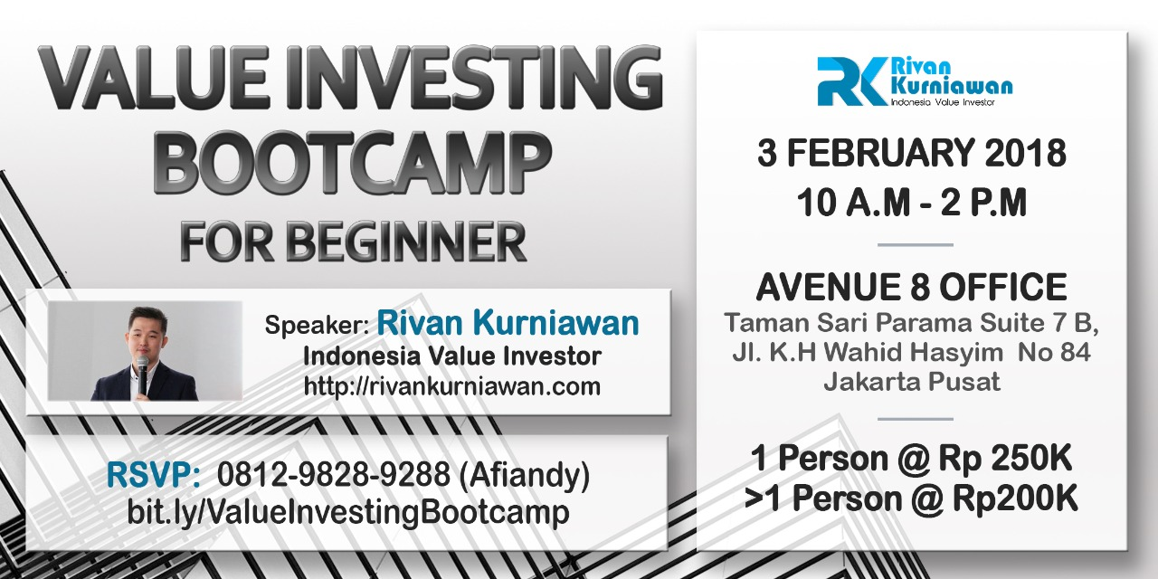 rivan kurniawan value investing bootcamp for beginners