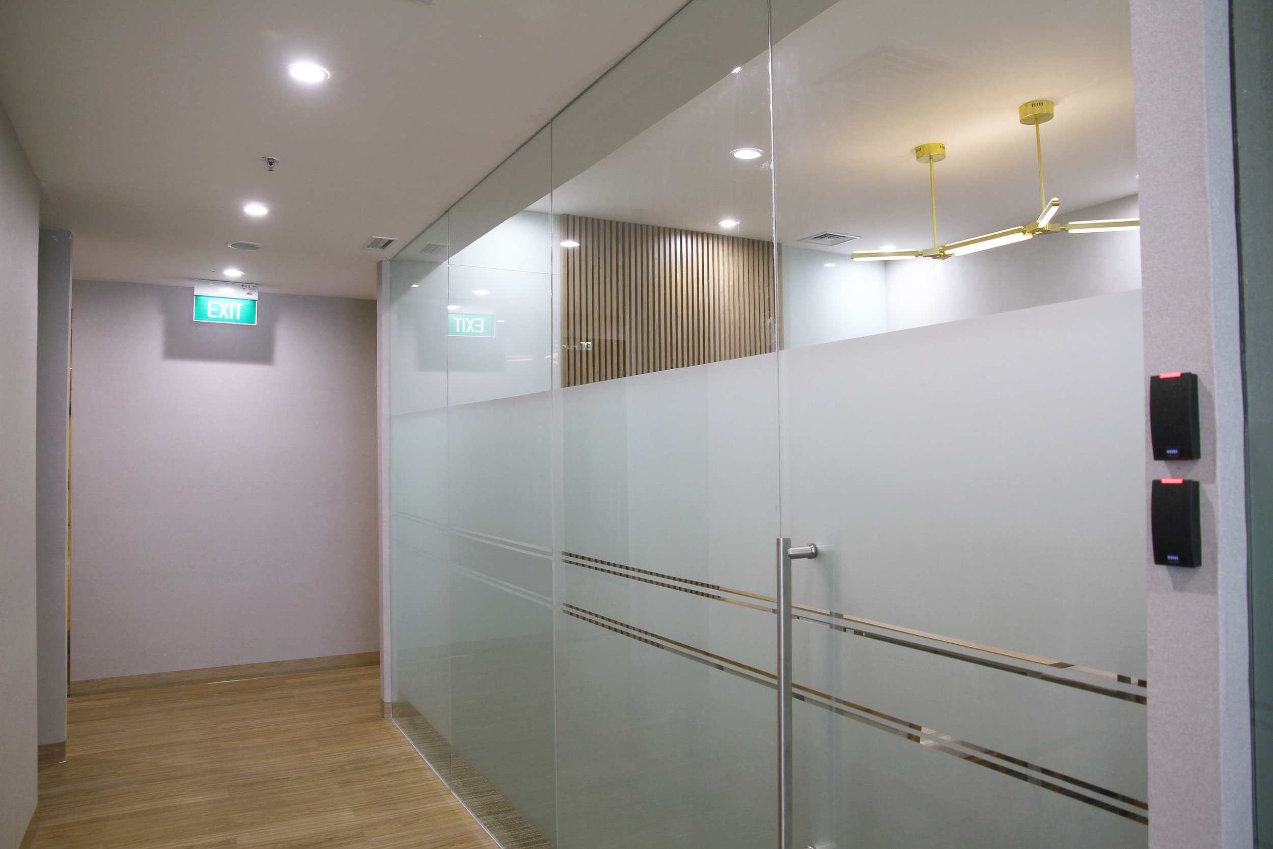 ALL OF OUR PRIVATE OFFICES ARE SECURED WITH STATE OF THE ART KEYCARD ACCESS