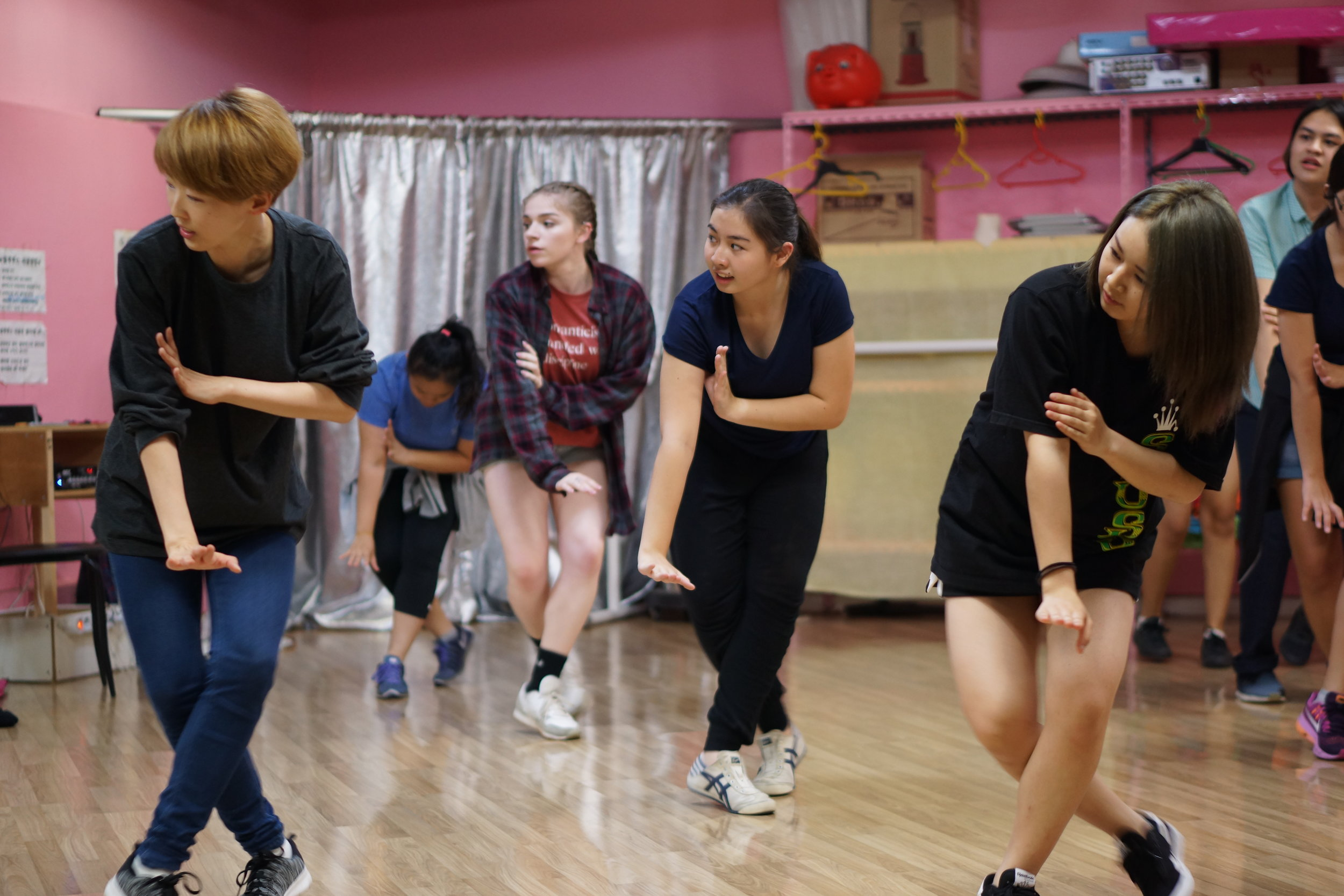 Interns enjoy free KPop Dance lessons.