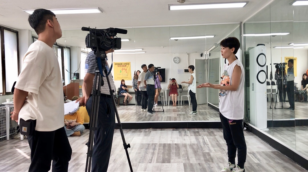 Interview with one of ACOPIA School's teachers after the dance class