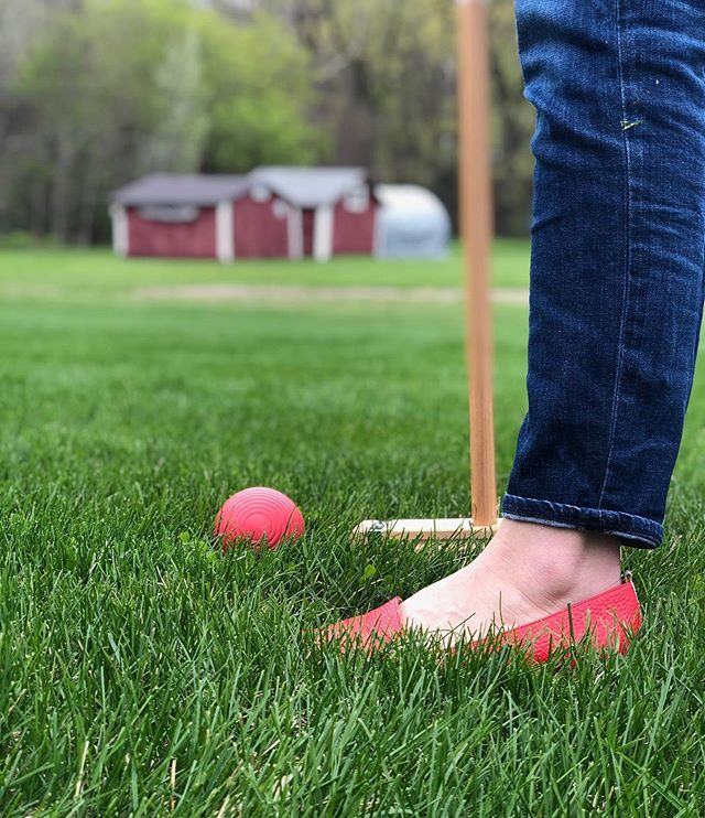 This happened this weekend. Photo @juleslundq. . #summerinstockholm #croquet #stockholmwisconsin #adubestay