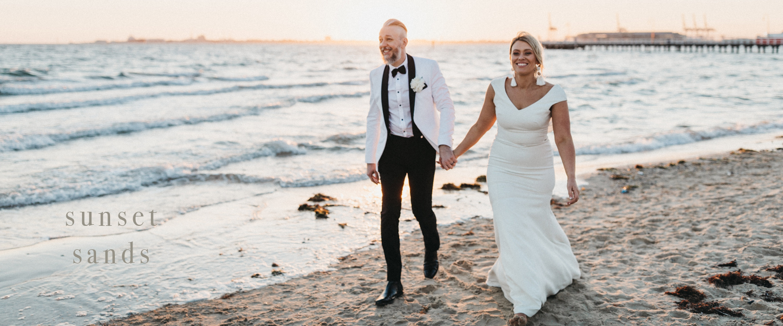 Art Gallery and Beach Sunset melbourne Wedding.jpg