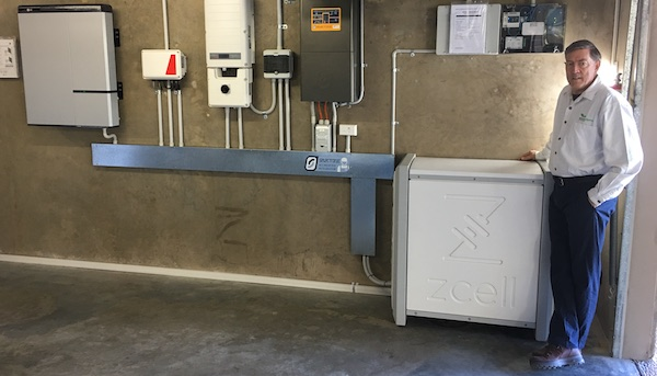 Example of complexity in a single system: SwitchDin customer Jeff Knowles' home includes a mix of batteries & inverters, managed by a SwitchDin Droplet controller.