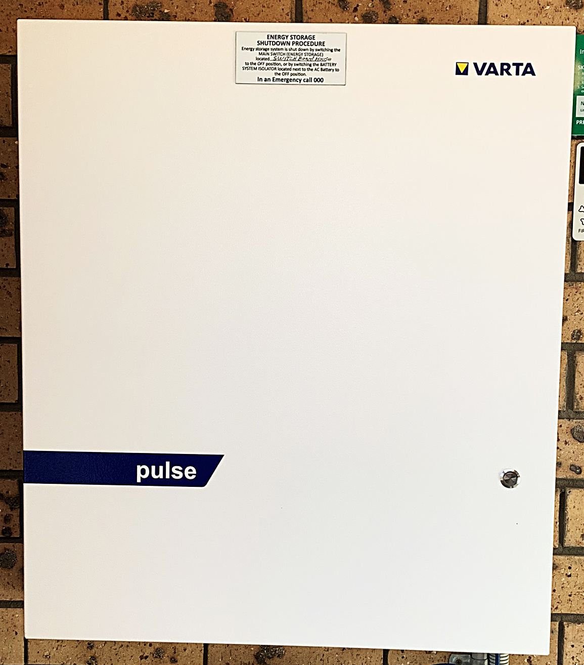 The VARTA pulse 6 installation at the integration testing site in Newcastle.