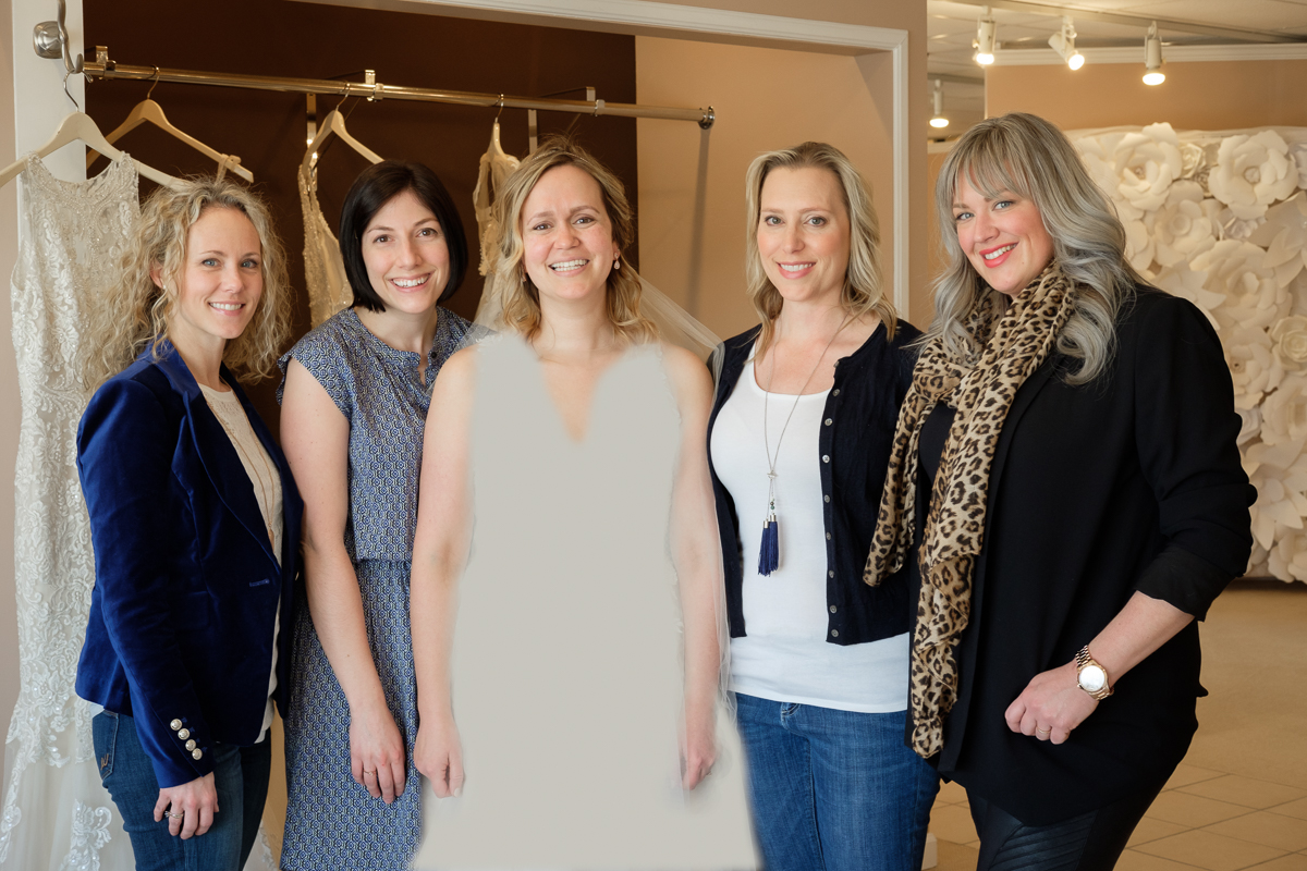 Our happy bride Liz has selected a dress with the help of her BFF; Ann Marlin of Cloud 9 Weddings; Melissa Childs, 2011 Wedding Pink bride and the fabulous stylist Jordan from The Bridal Collection.