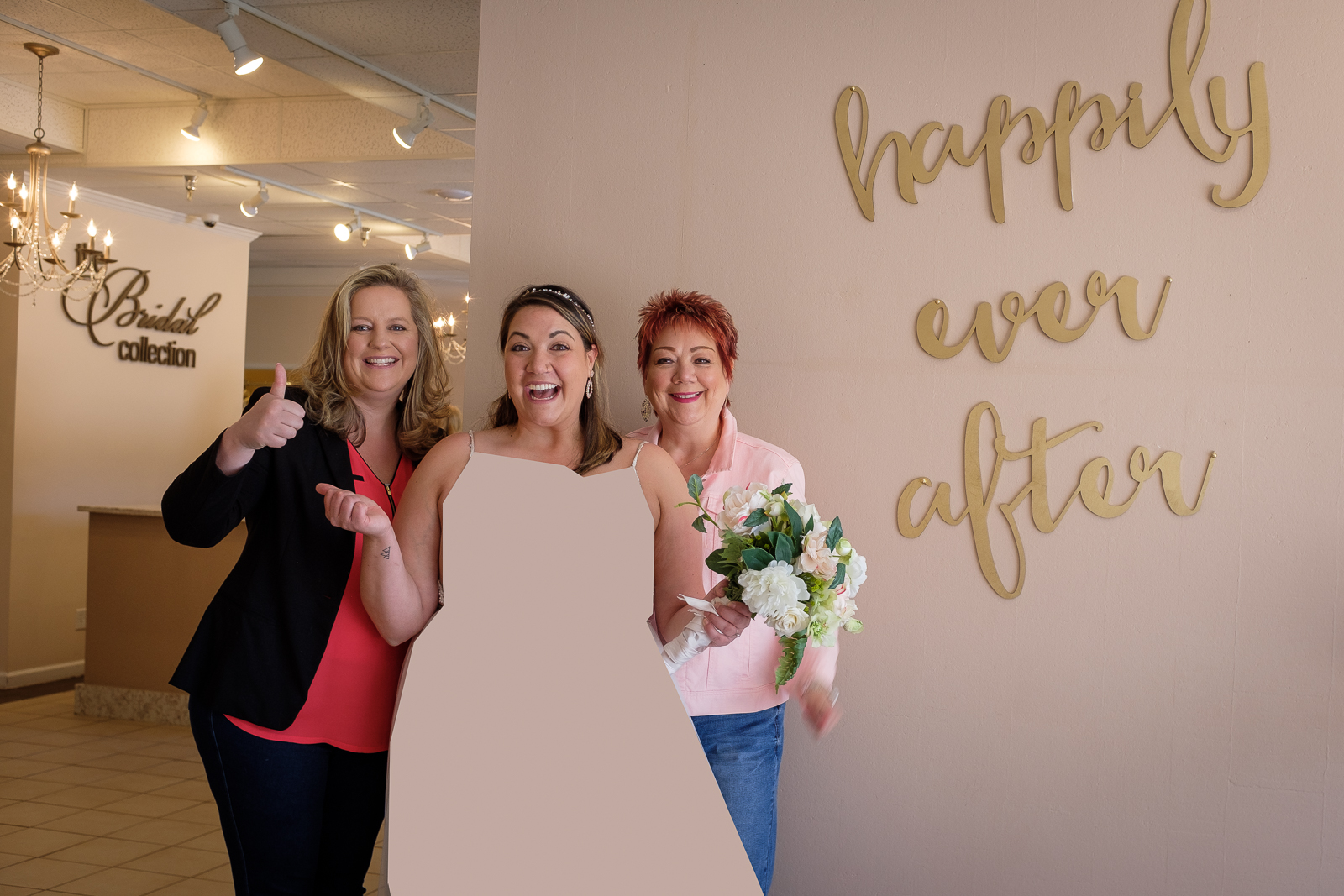 Happily ever after. Sabrina with her mom and BFF. A huge thank you to  The Bridal Collection  for donating this beautiful dress.