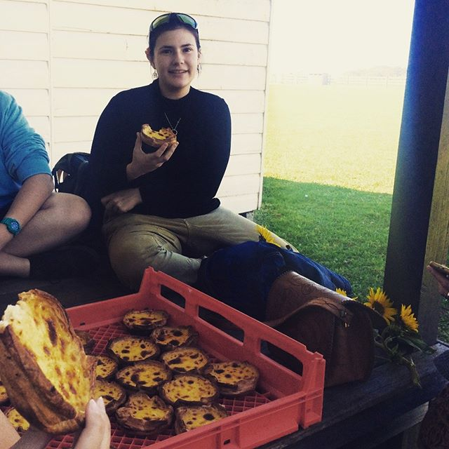 We are so fortunate to have the support of the local community.  A few weeks ago we had a lovely day out to @thefarmatbyronbay and were lucky enough to be fed delicious quiches and portugese tarts by @thebreadsocial.  Our tummies were almost as full as our hearts!  #blessed #youngpeoplematter #sustainablebusiness #ethicalbusiness #supportingyouth #organicfarming #innovation #farmfreshbyronbay
