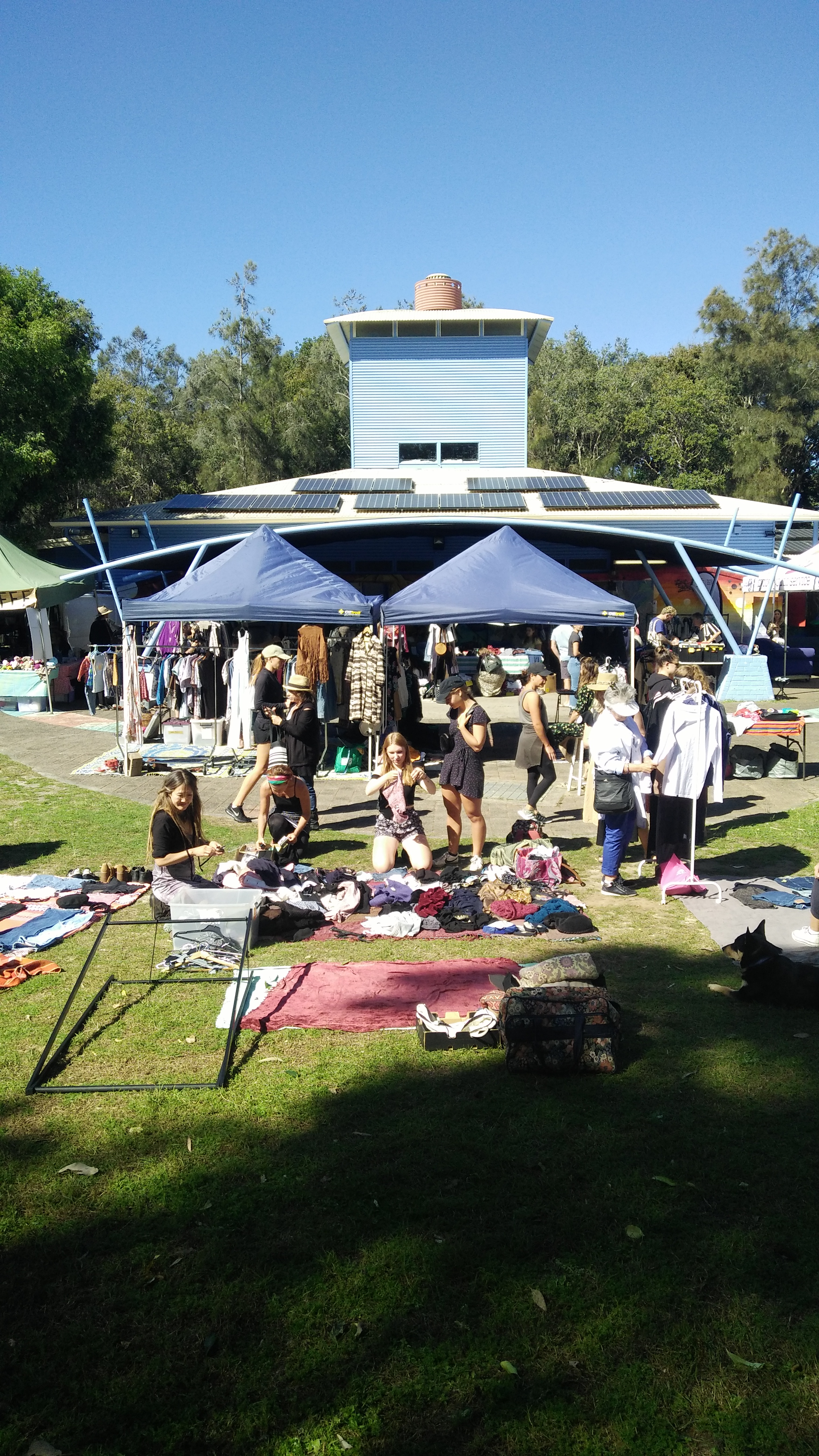 Byron Flea Market in the beautiful grounds of the Byron Youth Activities Centre