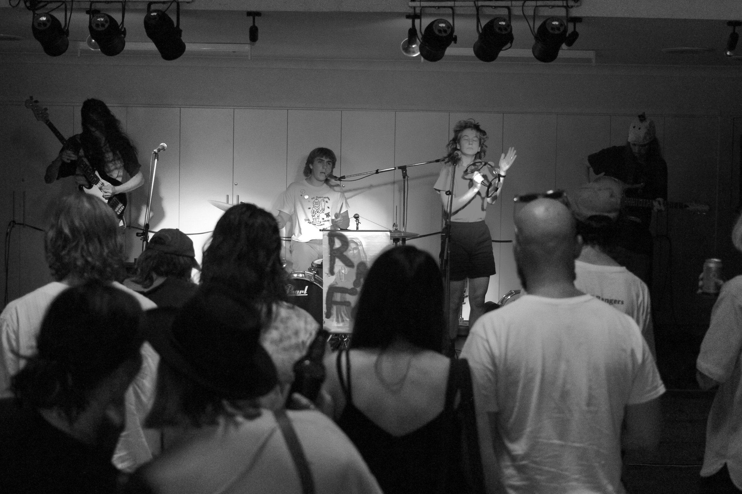 12. It's important to support the bands who support you. Here's Rock Music Fan Club opening for us at Huskisson Community Hall - a really good (important) young band that you need to know about.