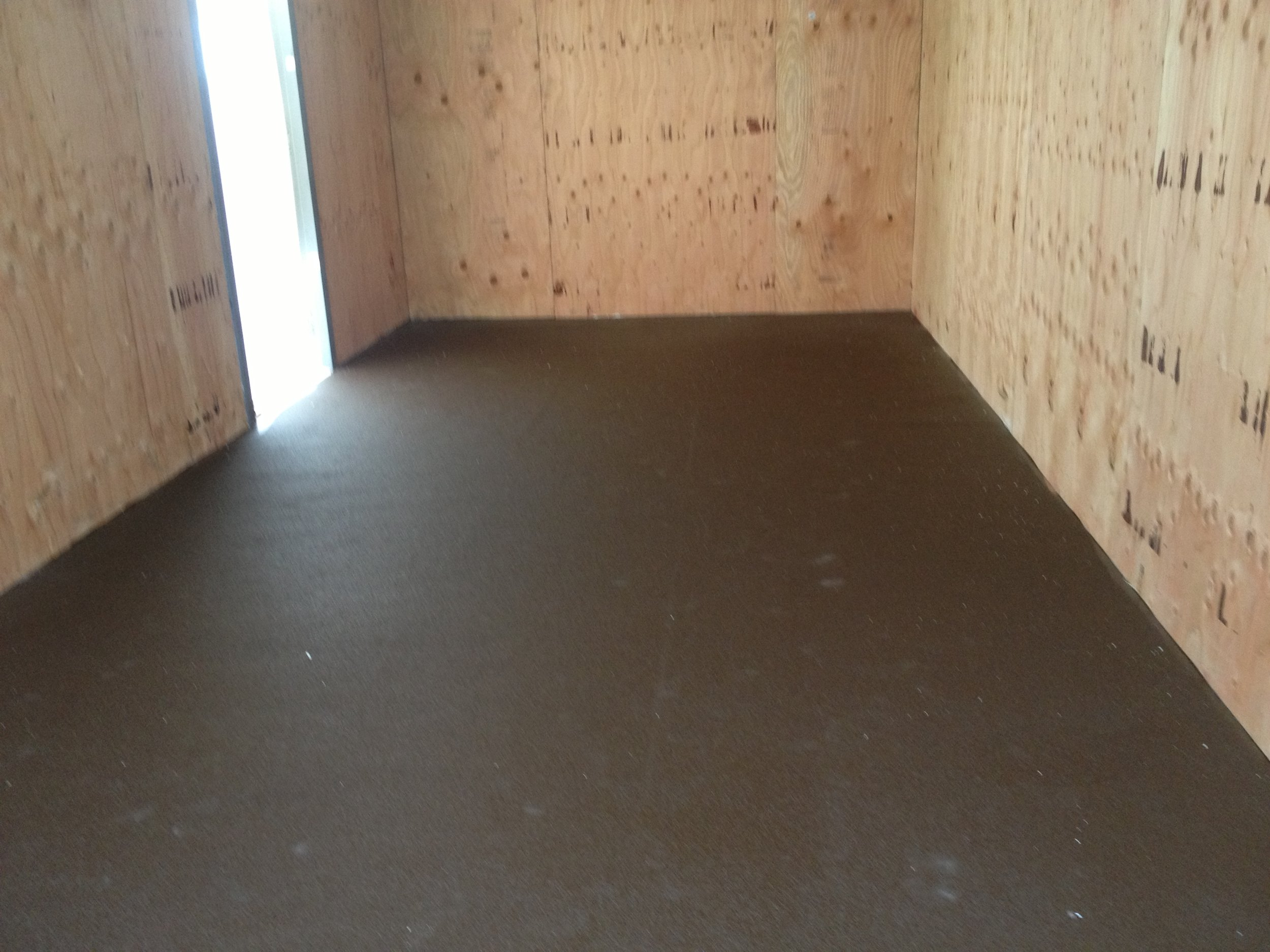 After - Protected floor with polyshield