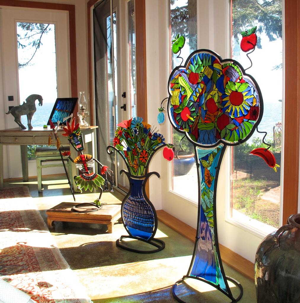 Sculptures in collectors home 2.jpg