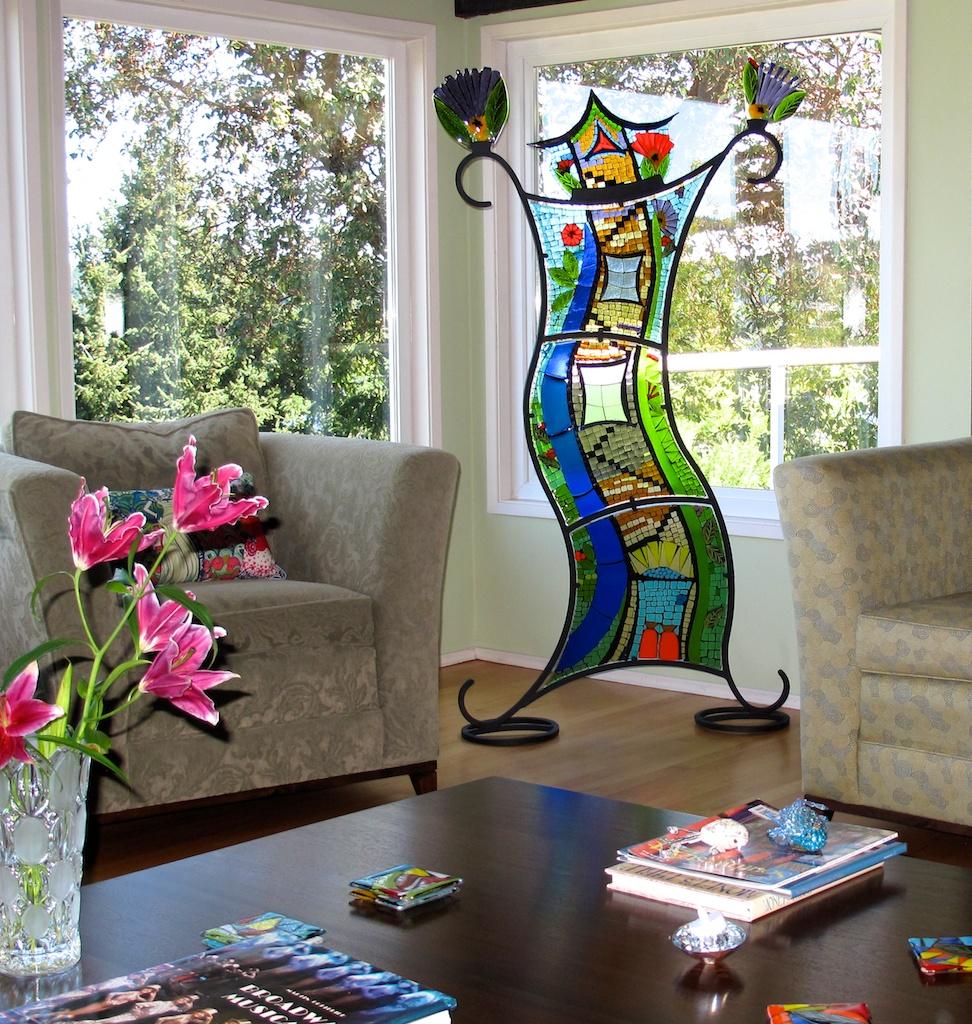 Sculptures in collectors home.jpg