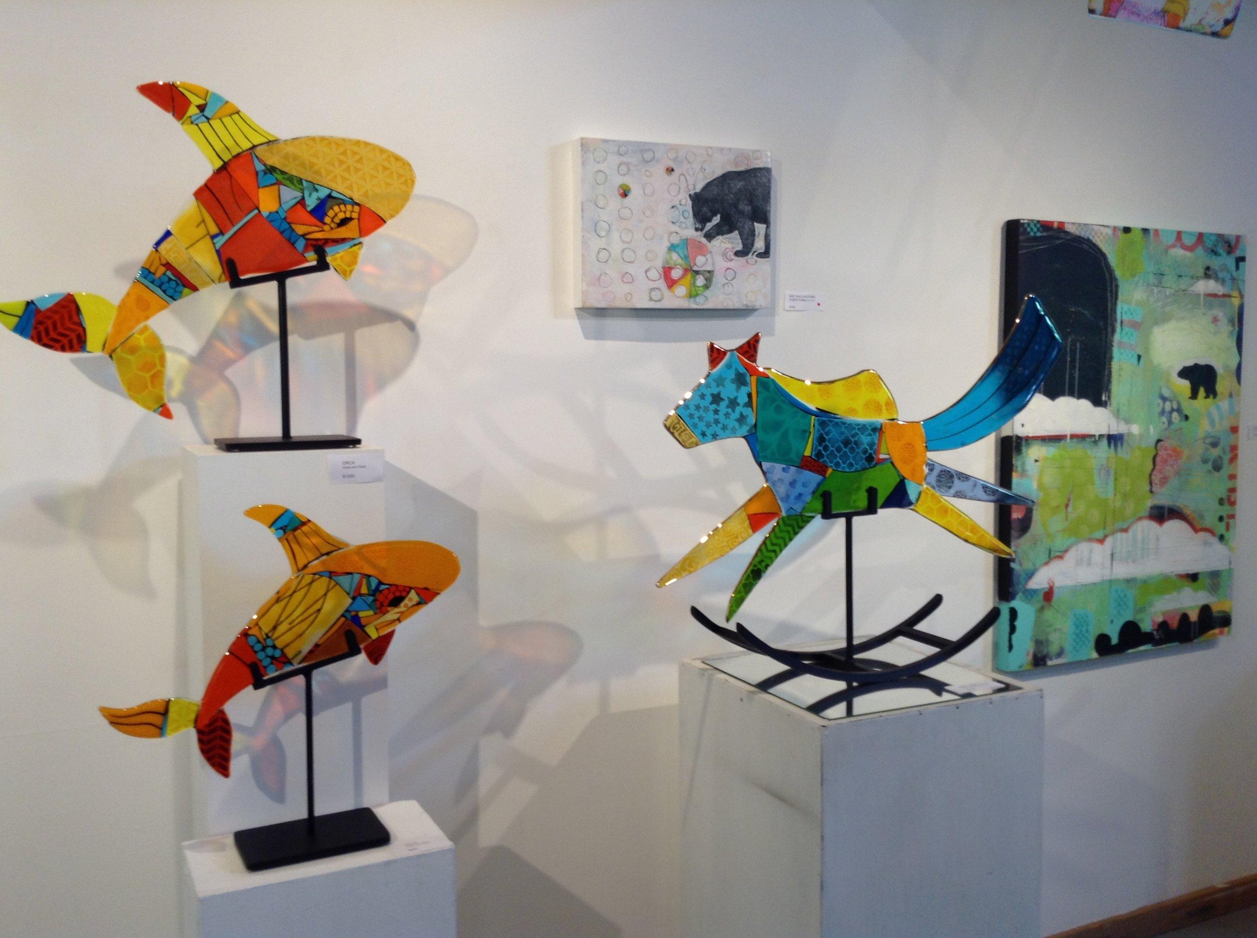 21. paintings and glass in situ.JPG