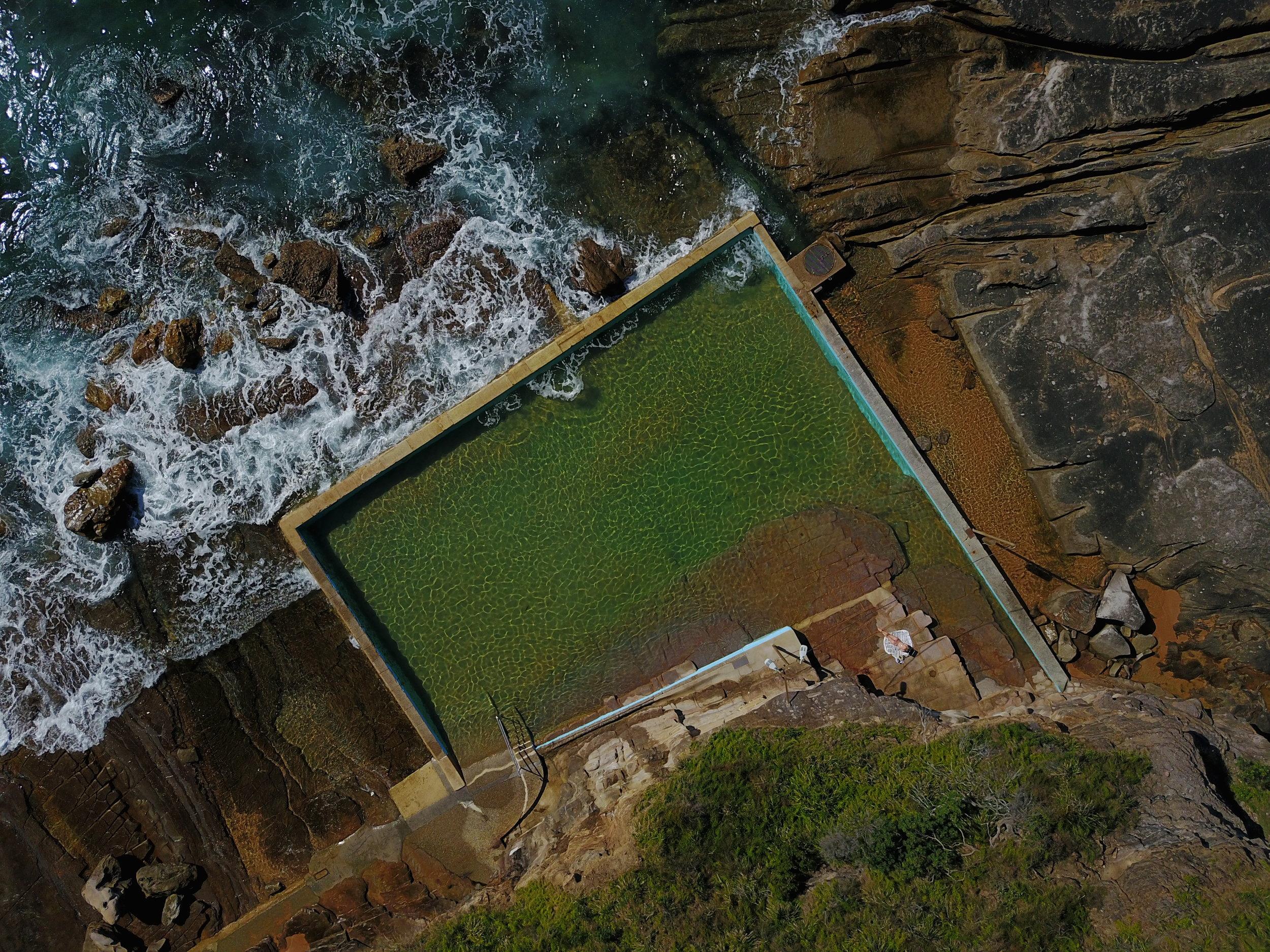 whale beach - whale beach ocean pool, nsw