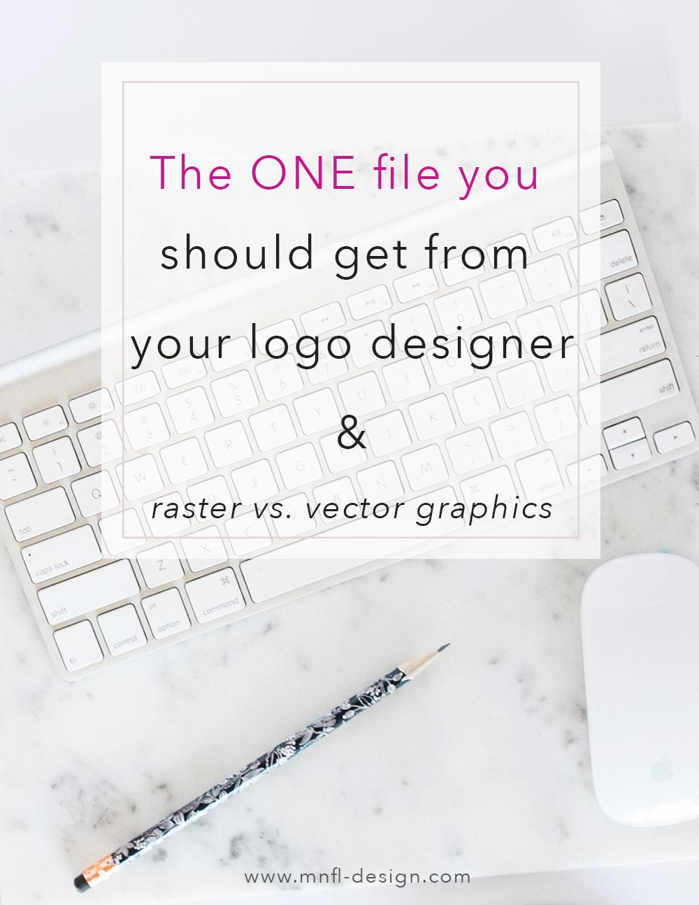 The ONE file you should get from your logo designer & Raster versus Vector Graphics | MNFL Design