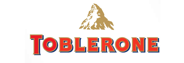Another very old brand that uses negative space: the chocolate Toblerone. The mountain is the Matterhorn, one of the highest mountains in the alps. And inside you can see a bear which is the symbol of Bern, the capital of Switzerland and the city in which the chocolate was originally produced and comes from. By the way, Toblerone even uses the unique shape of it's chocolate, a triangle, for brand purposes and recognition.
