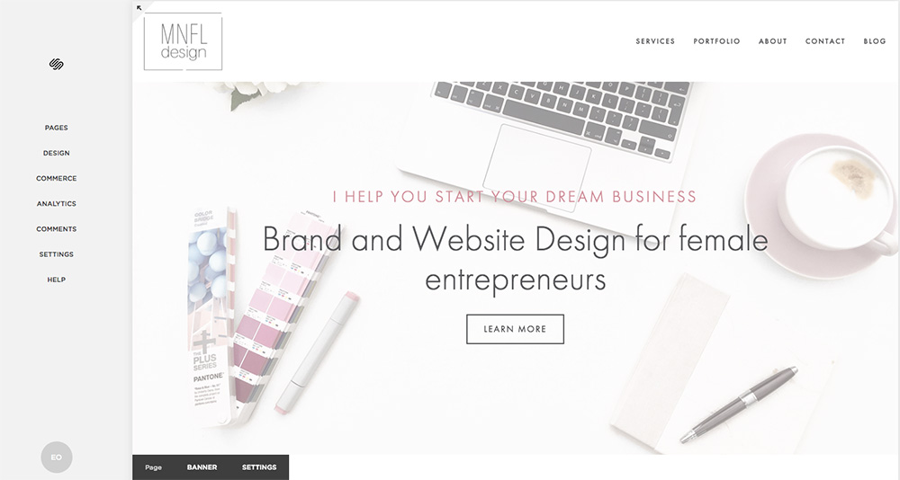 Overview of Squarespace and how to update content on your site | MNFL Design