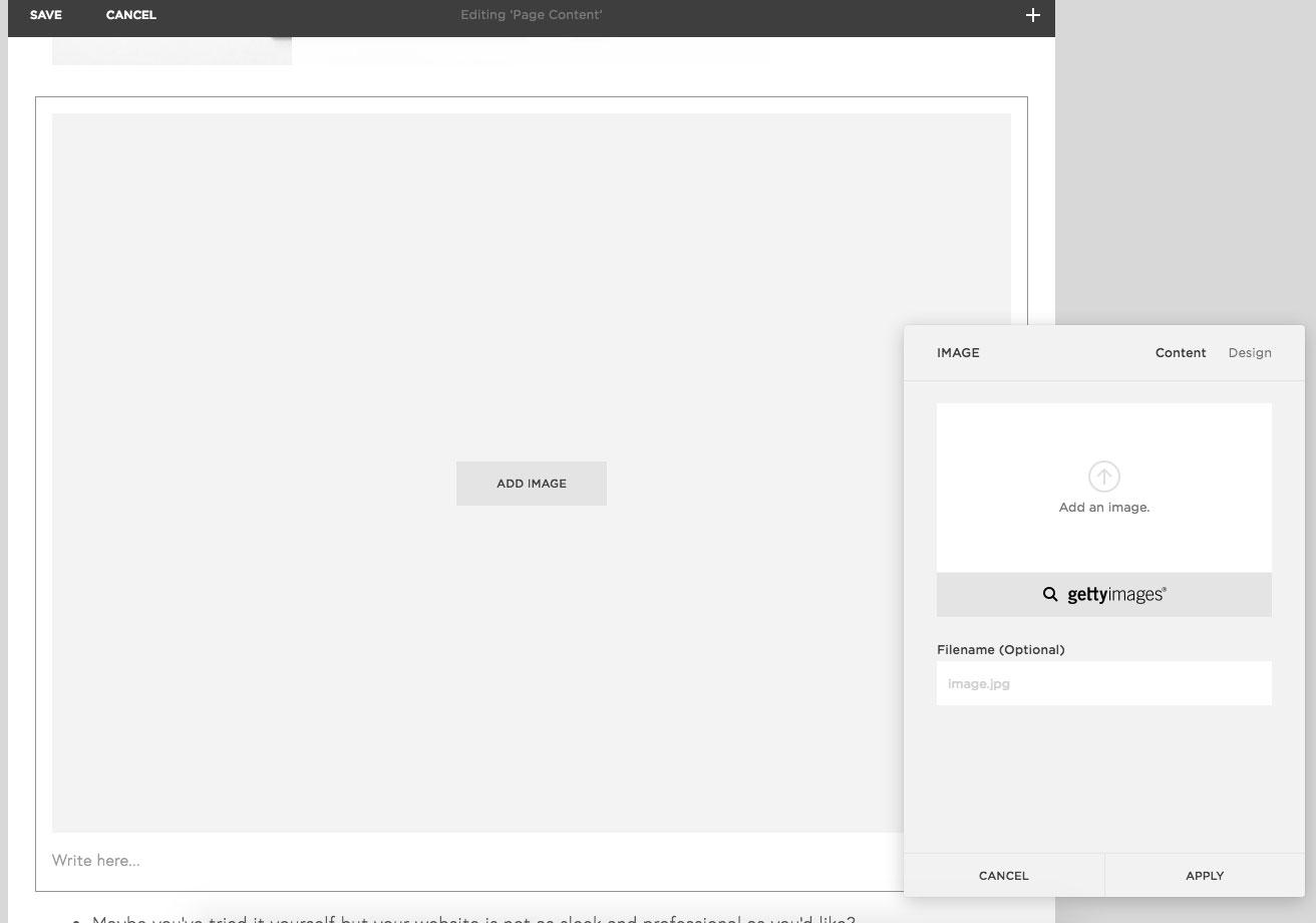 adding a new image to a Squarespace website | MNFL Design