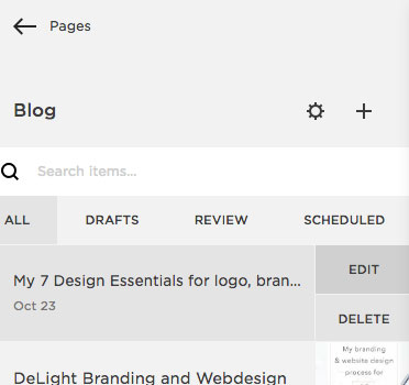 How to add a blog post on your Squarespace website | MNFL Design