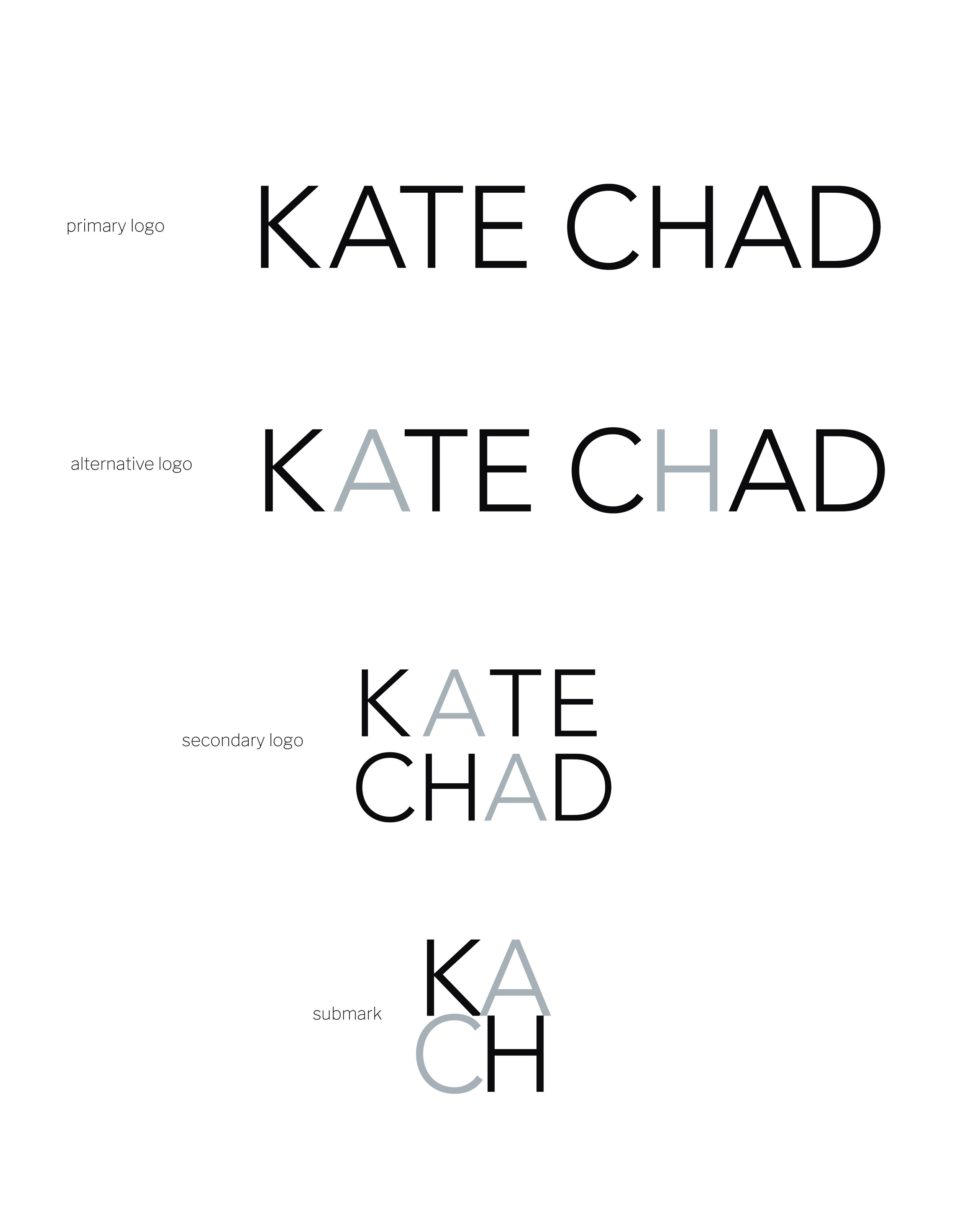 my brand design process for KATE CHAD | brand board | MNFL Design