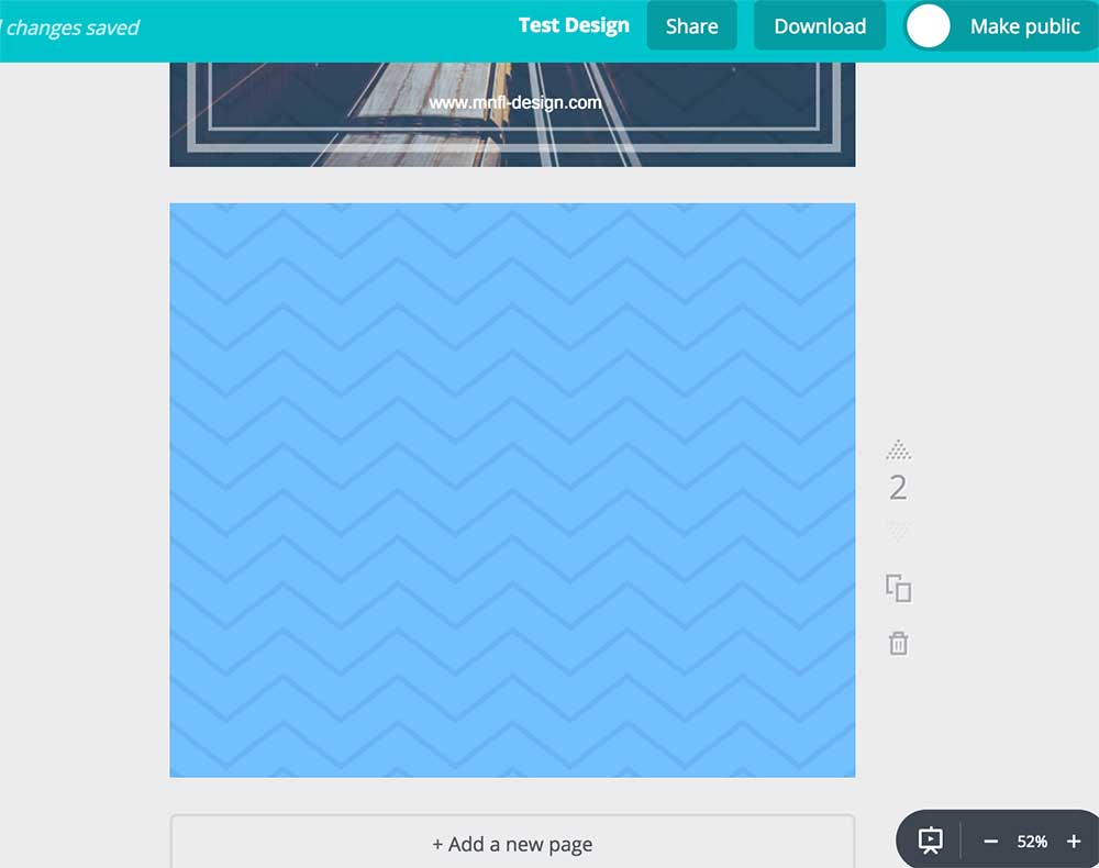 How to use Canva | adding a new page | MNFL Design