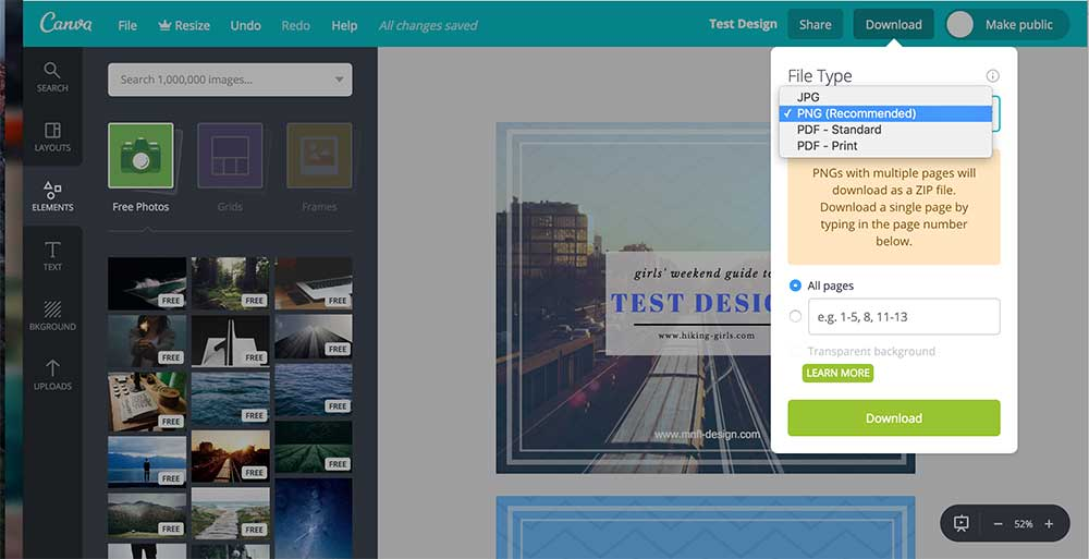 How to use Canva | saving your designs | MNFL Design