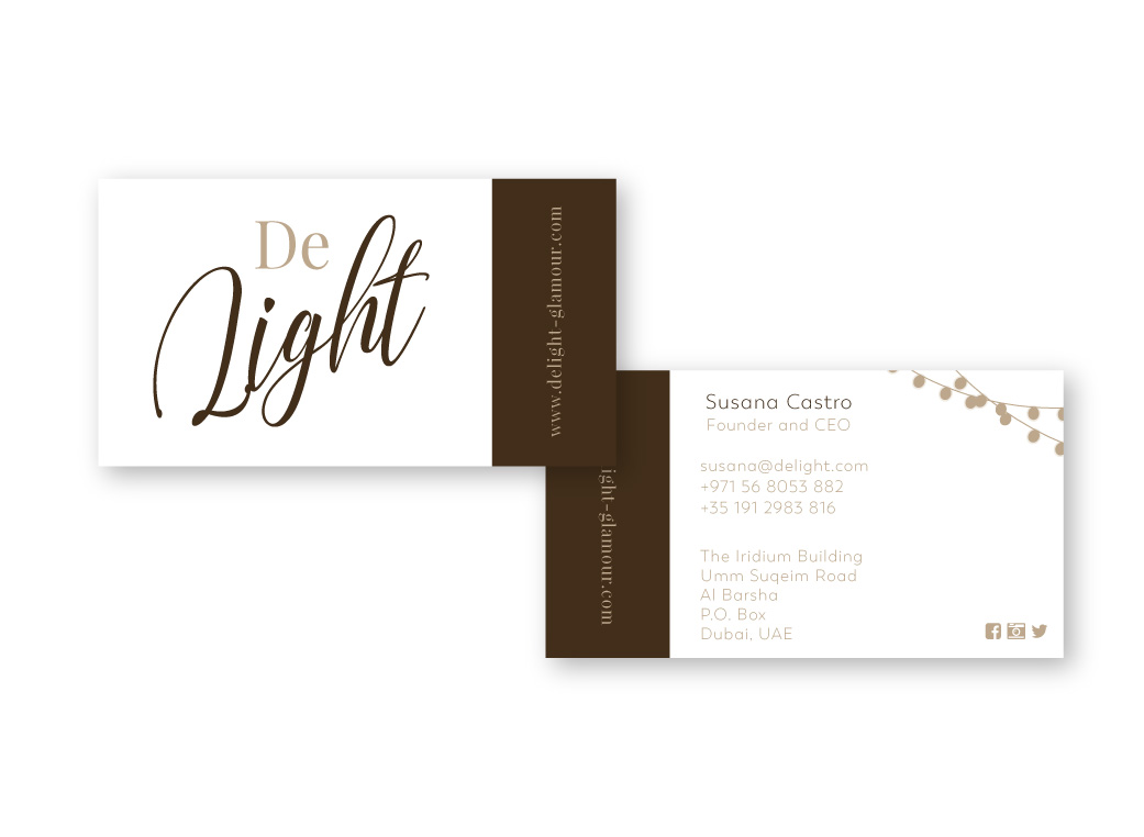 DeLight Business cards | MNFL Design