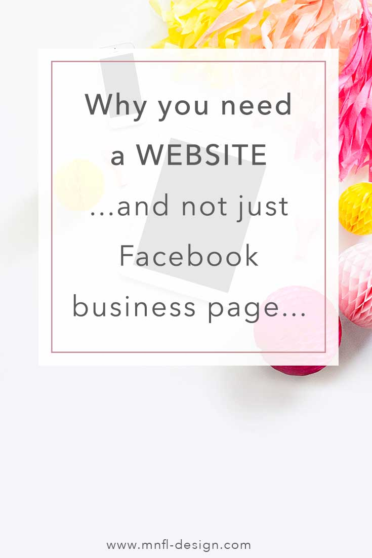 Why you need a website and a facebook page | MNFL Design
