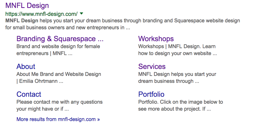 Search engine description | SEO Squarespace | MNFL Design