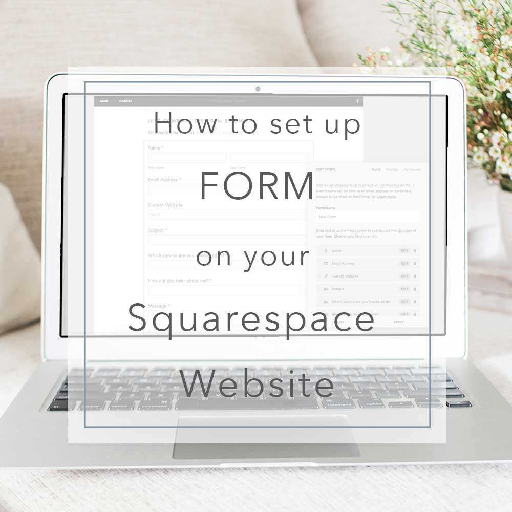 Setting up a form in Squarespace | MNFL Design