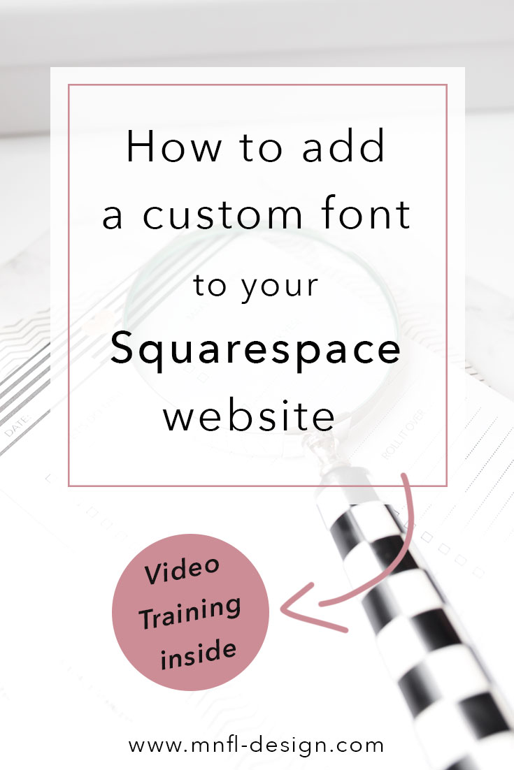 How to add custom font to Squarespace website