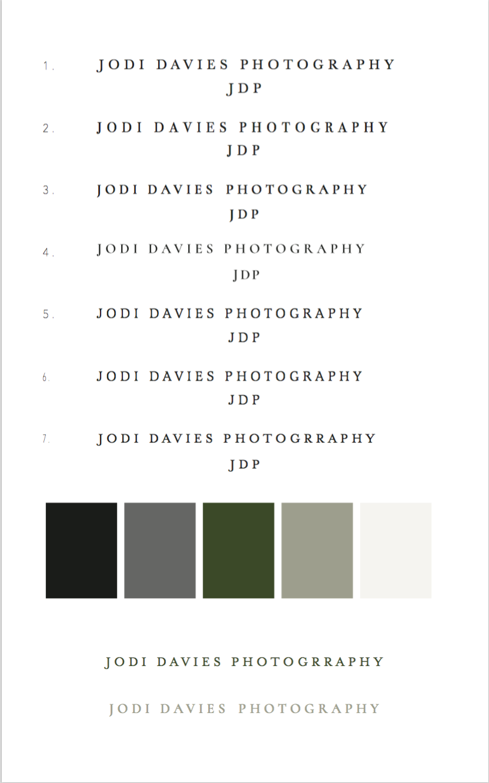 Branding Jodi Davies Photography | MNFL Design