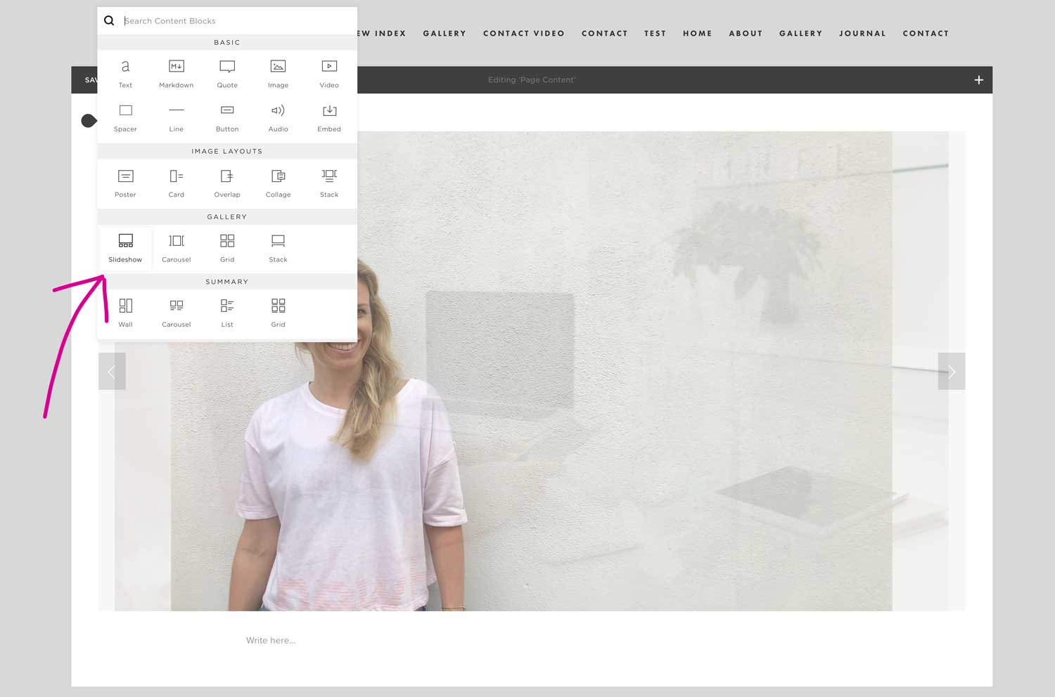 How To Add A Slideshow To Your Squarespace Website Emilia Ohrtmann
